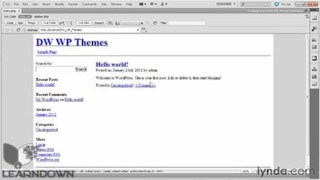 دانلود آموزش ساخت پوسته به وسیله دریم ویور و وردپرس |Building Themes with Dreamweaver and WordPress 23