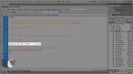 دانلود آموزش ساخت پوسته به وسیله دریم ویور و وردپرس |Building Themes with Dreamweaver and WordPress 3