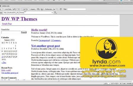 دانلود آموزش ساخت پوسته به وسیله دریم ویور و وردپرس |Building Themes with Dreamweaver and WordPress
