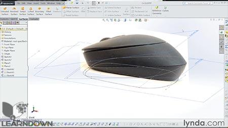 دانلود آموزش سالیدورک : سطح سازی | SOLIDWORKS: Surfacing 2