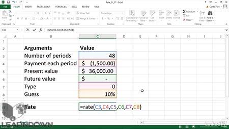 دانلود آموزش اکسل 2013 فانکشن های مالی | Excel 2013 Financial Functions in Depth 2