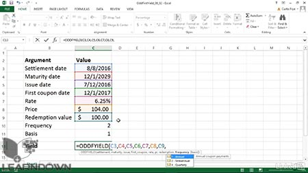 دانلود آموزش اکسل 2013 فانکشن های مالی | Excel 2013 Financial Functions in Depth 3