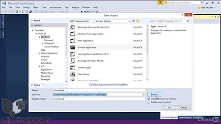 دانلود آموزش ویژوال استدیو : 03 بررسی پروژه ها و راهکارها |Visual Studio Essential Training 03 Exploring Projects and Solutions 2