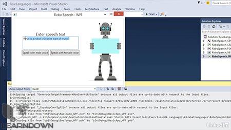 دانلود آموزش ویژوال استدیو : 04 بررسی زبان های برنامه نویسی | Visual Studio Essential Training: 04 Surveying the Programming Languages 3