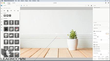 دانلود آموزش ادوبی دایمنشن | Adobe Dimension CC First Look 2