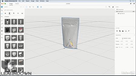 دانلود آموزش ادوبی دایمنشن | Adobe Dimension CC First Look 3